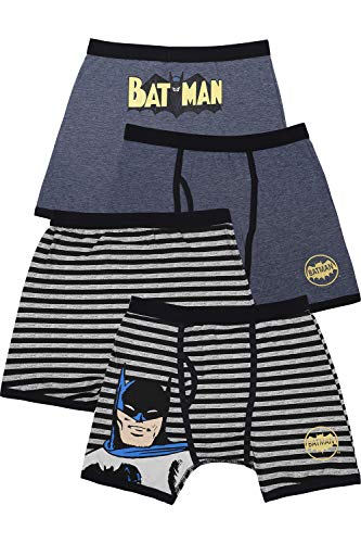 DC Comics Boys 'Batman Justice League Vintage' Boxer Brief Underwear Pack, Multi, 4 ()
