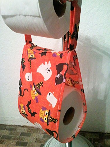 Happy Halloween Fabric Spare Toilet Roll Holder -