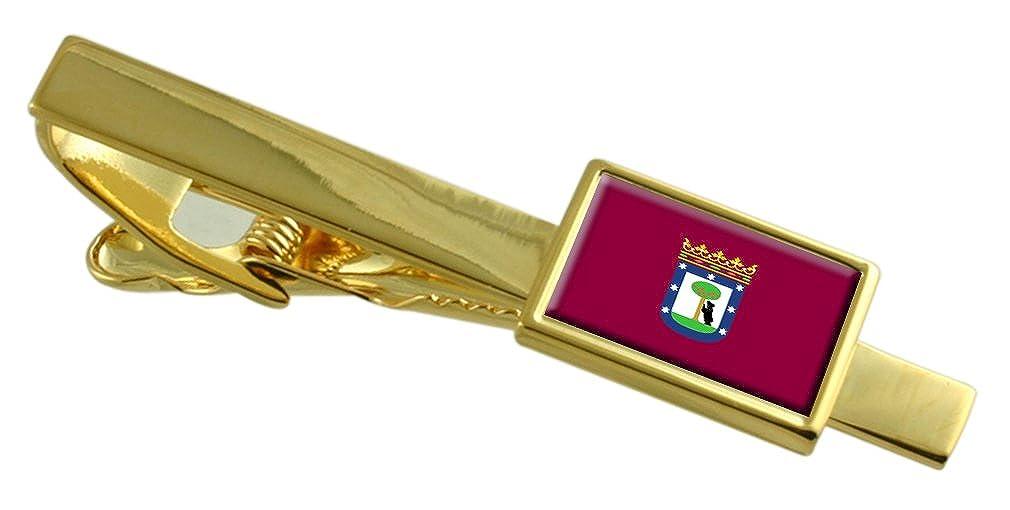 Select Gifts Madrid City Bandera España Clip de Corbata de Oro ...