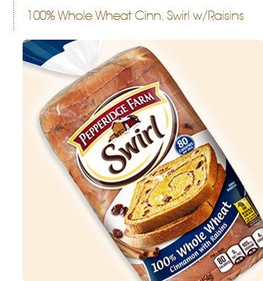 Pepperidge Farms Swirl Bread, 100% Whole Wheat, Cinnamon Raisin (Pack of 2) (Best Cinnamon Raisin Swirl Bread)