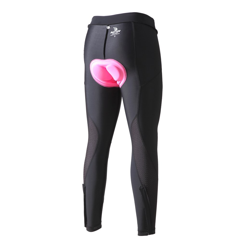beroy Women 3D Padded Cycling Pants with Adjust Drawstring,Ladies Compression Tights Bike Pants(L Black) by beroy (Image #6)