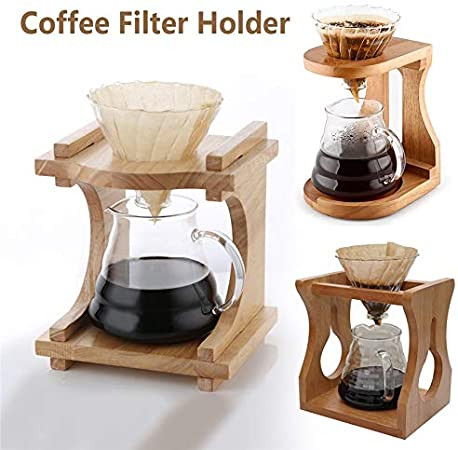JIUYUE Cafetera Francesa Filtro de café Titular de la Copa de Goteo Filtro de Papel de