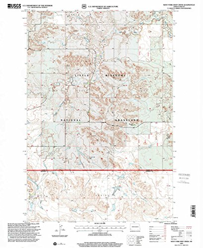 Flatland Fork (West Fork Deep Creek ND topo map, 1:24000 scale, 7.5 X 7.5 Minute, Historical, 1997, updated 2001, 27 x 22.1 IN - Tyvek)