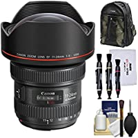 Canon EF 11-24mm f/4.0L USM Zoom Lens with Backpack + Cleaning Kit