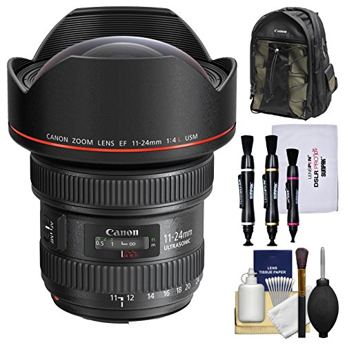 Canon EF 11-24mm f/4.0L USM Zoom Lens with Backpack + Cleaning Kit ()
