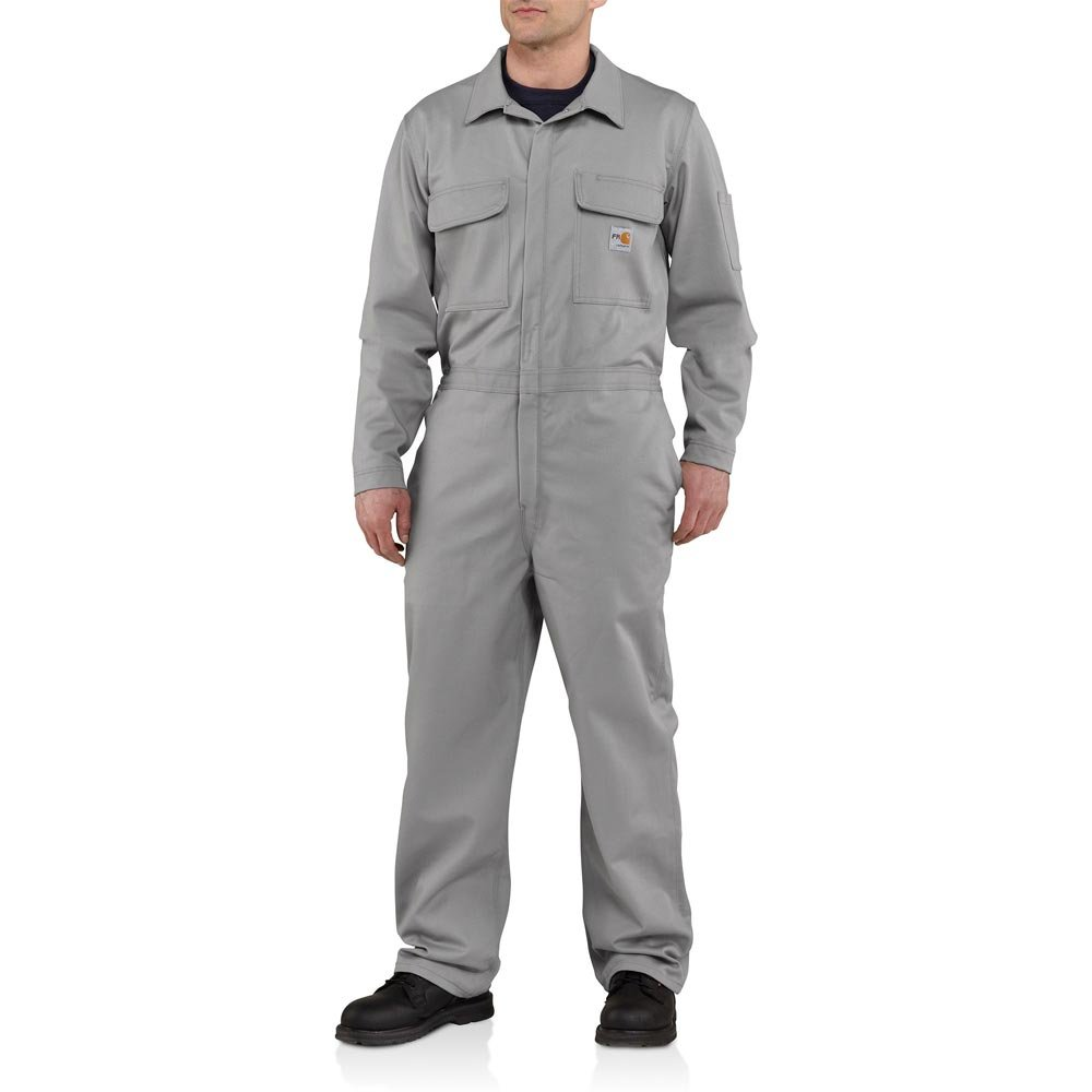 Carhartt Men's Big & Tall Flame Resistant Traditional Twill Coverall,Gray,52