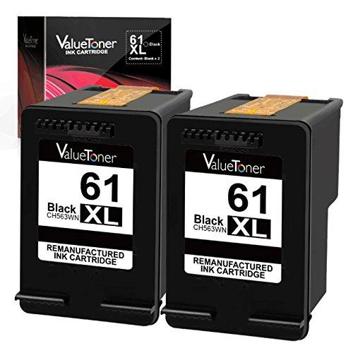 Hp Deskjet 300 - Valuetoner Remanufactured Ink Cartridge Replacement for HP 61XL 61 XL High Yield for HP Envy 4500 5530 5534, Deskjet 2540 1000 1010, Officejet 4630 2620 4635 Printer (2 Black)