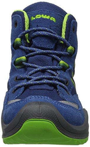 Lowa Simon II GTX QC, Zapatos de Senderismo infantil, Azul (Blu Limone), 29 EU