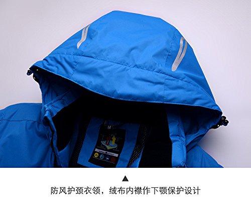 Cerniera Dyf Maschile Giacca Da Lunga Manica Fym Cappello Ispessita Blu Cappotto Caldo Giacche Sci 7qTwY