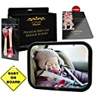 Best Back Seat Baby Car Mirror Bundle Fully Assembled & Adjustable Rear Facing Infant and Sight