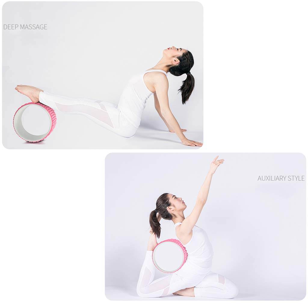 LJF massage Yoga wheel Back bender beginner Dharma Wheel Waist Open back movement Auxiliary Yoga circle Pilates ring 32 13CM Body Sculpting LIUJUNFANG