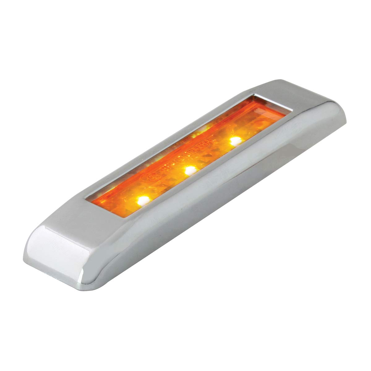 GG Grand General 76130 LED Light 3.5 L Ultra Thin Amber with Clear Pl Bezel