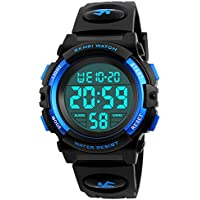 Kid reloj 50m resistente al agua deporte LED Alarma Cronómetro digital reloj de pulsera de cuarzo para niño niña