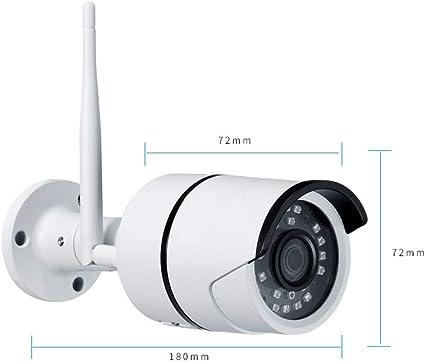 Cámara de vigilancia WiFi externa, visión nocturna de la pelota Ir de seguridad con cámara externa inalámbrica HD 1080P WiFi IP, panorámica cámaras a distancia de detección de movimiento a: Amazon.es: Informática