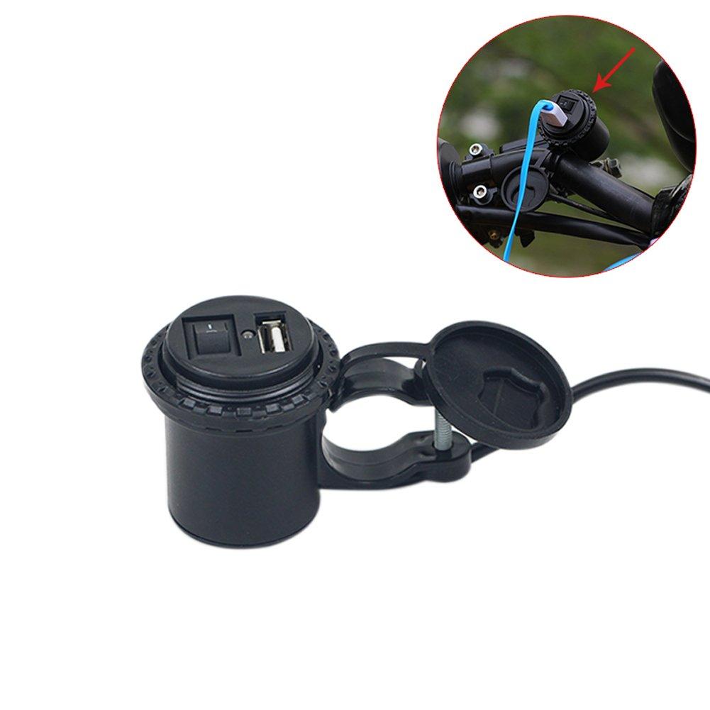 Rokoo 12 V LED telefono della moto USB Alimentazione Presa Porta outlet Socket caricatore auto con cavo