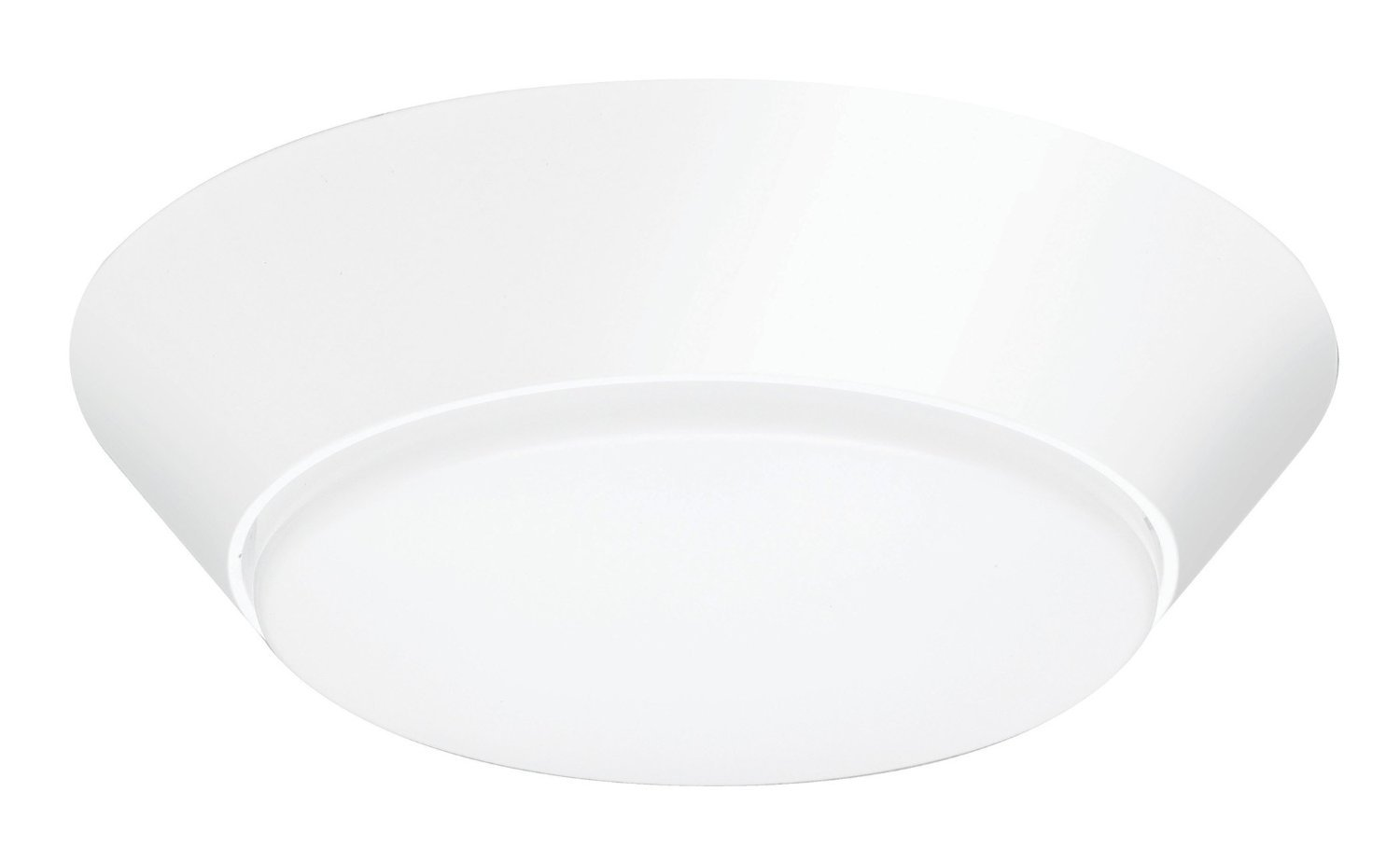Lithonia Lighting Contractor Select 7 inch Round LED Flush Mount Thin Ceiling Light White 3000K Dimmable