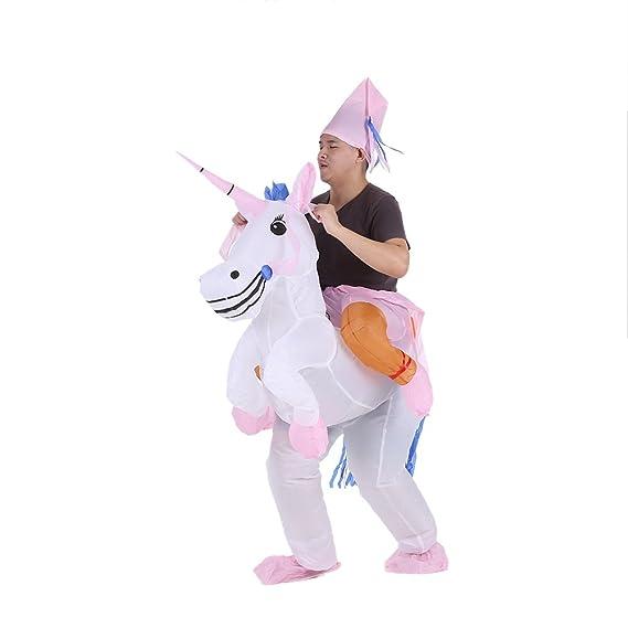 Anself - Disfraces Inflable De Unicornio Traje De Cosplay Fiesta ...