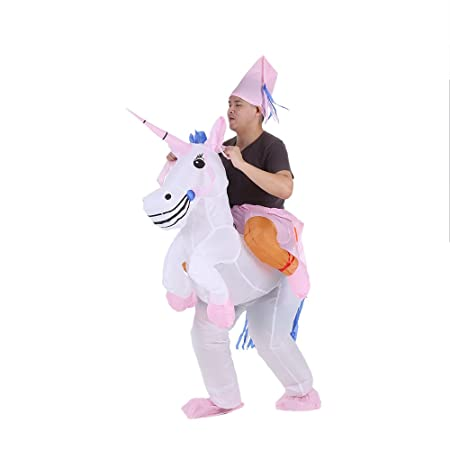 Anself - Disfraces Inflable De Unicornio Traje De Cosplay Fiesta,Para Adulto 1.6m-1.8m