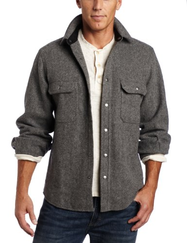 Woolrich Men's Wool Alaskan Shirt, New Gray, Large ()