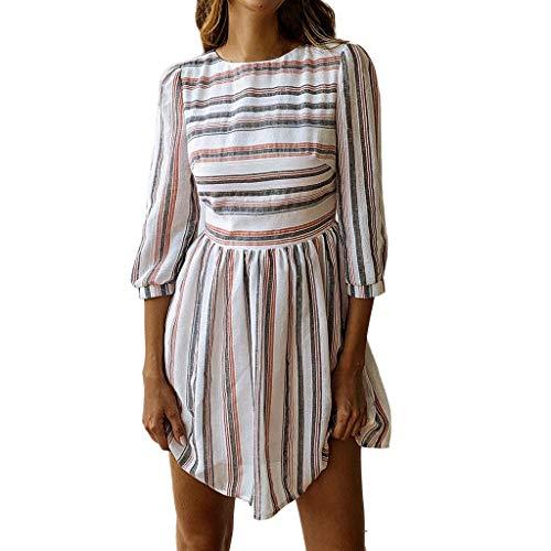 (Toimothcn Women Bohemian Vintage Printed Ethnic Style Dress V Neck Sleeveless/Short Sleeve/Halter Mini Dress(Black1,M))