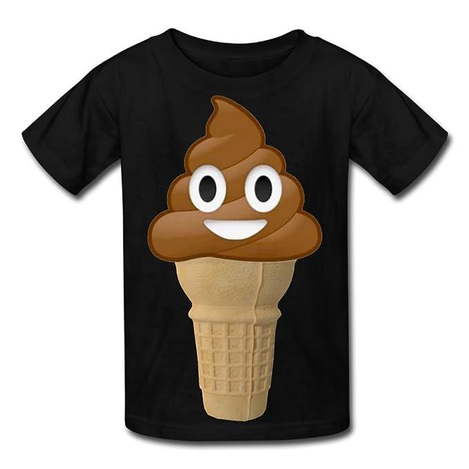 Amazoncom Hanxiaoxiao Girls Chocolate Ice Cream Or Poop Emoji