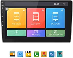 ALPEG Car Stereo Radio,10.1 Inch Head Unit Car Radio MP5 Player Support WiFi Bluetooth Mirror Link Android 6.0 with Dual USB Interface 1(RAM)+16G(ROM)