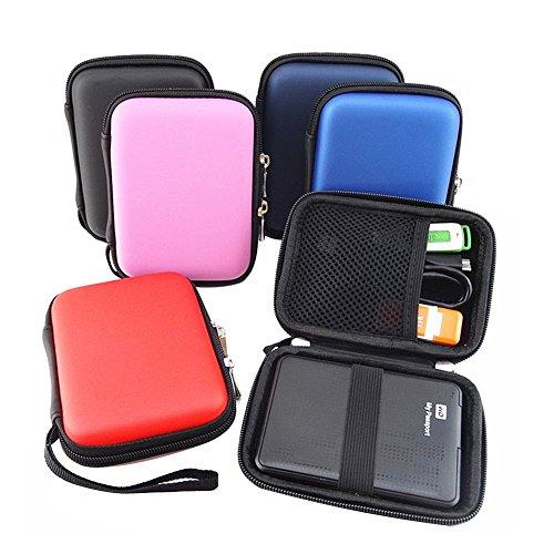 Elvam EVA Shockproof Waterproof Portable Hard Drive Case Bag / Cable Case Bag / USB Flash Drive Case Bag / Power Bank Case Bag / GPS Case and Digital Camera Case - Pink by Elvam (Image #5)