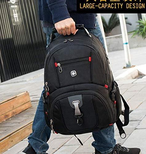 HUYANNABAO Mens and Womens Travel Backpacks Business Leisure High-End Nylon Duplex Waterproof