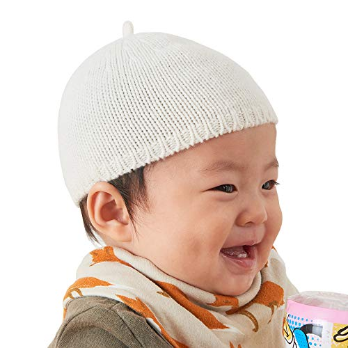 e Hat for Boys and Girls - Baby hat for Baby Boy & Baby Girls Infant Bonnet Newborn Cap for Baby Girl 0 6 12 Months Ivory ()