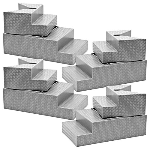 Set of 4 Deluxe Gray Breakable Ring Stairs for WWE Wrestling Action Figures ()
