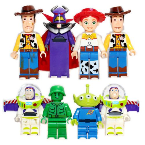 8pcs TOY STORY 4 Mr Potato Head Jessie Woody Buzz Lightyear Minifigures Kids Toy (Toy Story Buttercup)