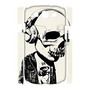 YNFYC Skull Art Phone 3D Case For Samsung Galaxy S3 I9300 [Pattern-1]