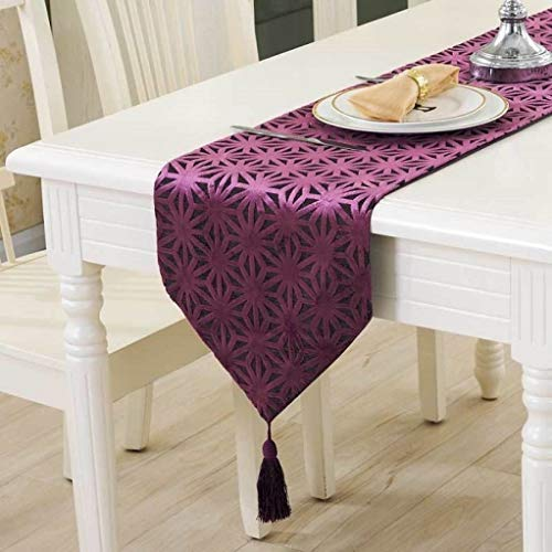 ROGEWIN Table Runner European 32x180 Silky Cloth Hollow Luxury Upscale Neoclassical Fireplace Wedding Bed Home Decoration
