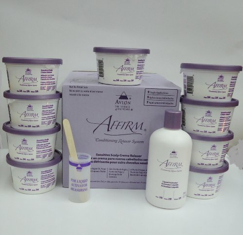 AFFIRM CONDITIONING RELAXER SYSTEM SENSITIVE SCALP CREME RELAXER 9 APPLICATIONS by AVLON (Relaxer Step)