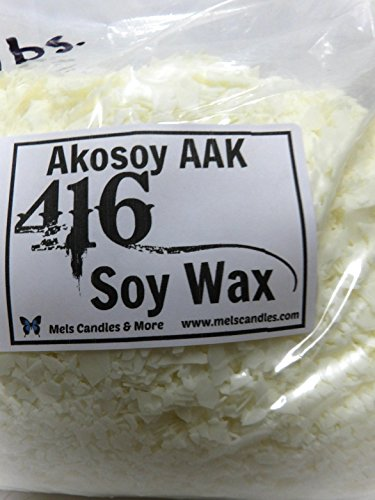 Pillar Votive Tart Wax - 4 Pound Bag of Soy Wax Flakes- Natural Soy 135 (416) Wax a Pure Soy Wax with No Additives.