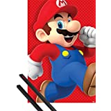 Poster + Hanger: Super Mario Poster (36x24 inches) Super Mario Bros., Run And 1 Set Of Black 1art1® Poster Hangers