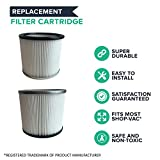 Think Crucial 2 Replacements for Shop-Vac Cartridge Filter Fits 5-Gallon & Up We & Dry Vacs, Compatible With Part # 90304