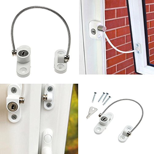 Gold Happy Stainless Steel Window Security Chain Lock Door Restrictor Child Safety Anti-Theft Locks Home Sliding Door Furniture Hardware
