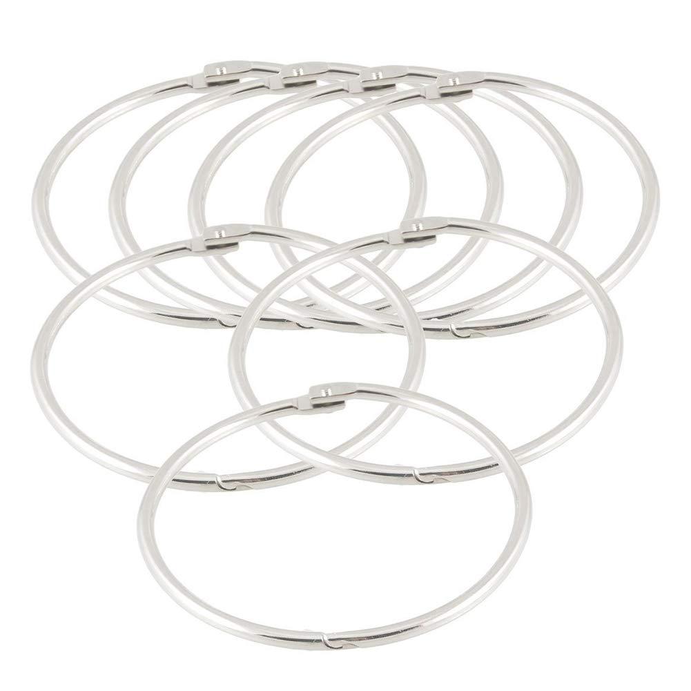 Yapthes 7 pz foglie sfuse anelli 88 mm/8, 9 cm foglia in metallo anelli Binder portachiavi per scrapbooking libro per ufficio 9cm foglia in metallo anelli Binder portachiavi per scrapbooking libro per ufficio