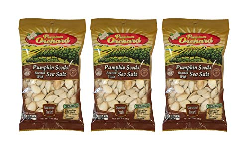 Premium Orchard Pumpkin Seeds Roasted with Sea Salt 3oz Bag (Pack of 3) by Premium Orchard