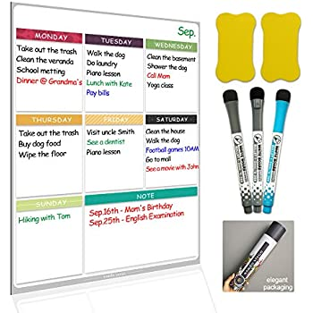 Dry Erase Board Magnetic Whiteboard For Fridge By Nardo
