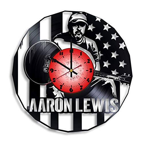 Aaron Lewis art Vinyl wall clock, Aaron Lewis design gift for any occasion