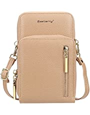 Baellerry Small Crossbody Purse for Women, Pu Leather, Mobile Phone Purse, Credit Card Holder, ID Holder, Women Wallet, Ladies Wallet