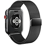 Apple Watch Band, Replacement Strap with Stronger Magnetic Closure For Apple Watch Band 42mm Series 3/2/1 Sport and Edition (Black)