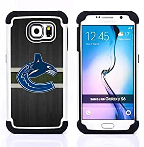 For Samsung Galaxy S6 G9200 - Vancouver Canuck Ice Hockey Dual Layer caso de Shell HUELGA Impacto pata de cabra con im????genes gr????ficas Steam - Funny Shop -
