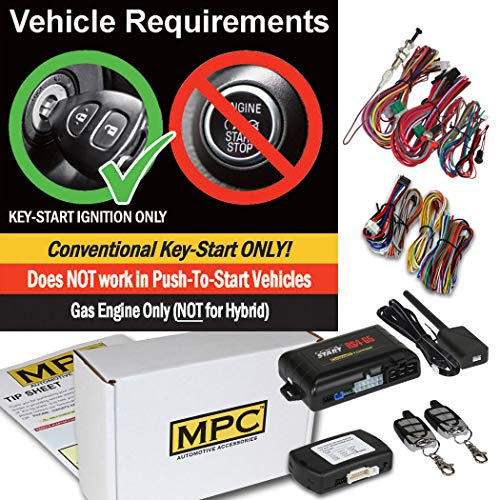 (5-Button Keyless Entry Remote Start Kit for 2007-2013 Acura MDX - with Bypass - Includes T-Harness - Plug-n-Play)
