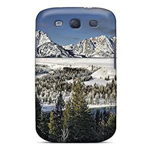 Dsorothymkuz TXaeBEC6839SYUHr Case Cover Galaxy S3 Protective Case Moon Over Unbelievable Winter Lscape