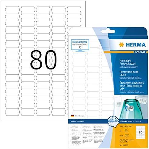 HERMA Preis Etiketten SPECIAL 35,6 x 16,9 mm weiß 2.000 Etiketten