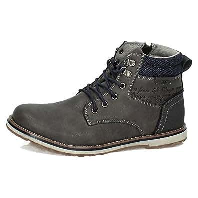 XTI 47094 Botas DE Moda XTI Hombre Botas-Botines Gris 44: Amazon.es: Zapatos y complementos