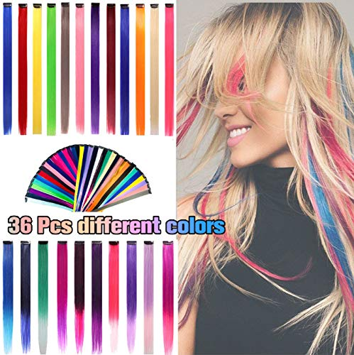 Extensions Multi Colors Highlights Synthetic Hairpieces